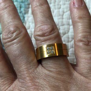 Men's size 9 titanium steel ring